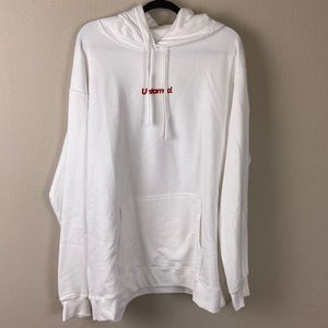 UNTAMED White Hoodie Dreaming Of You 2XL